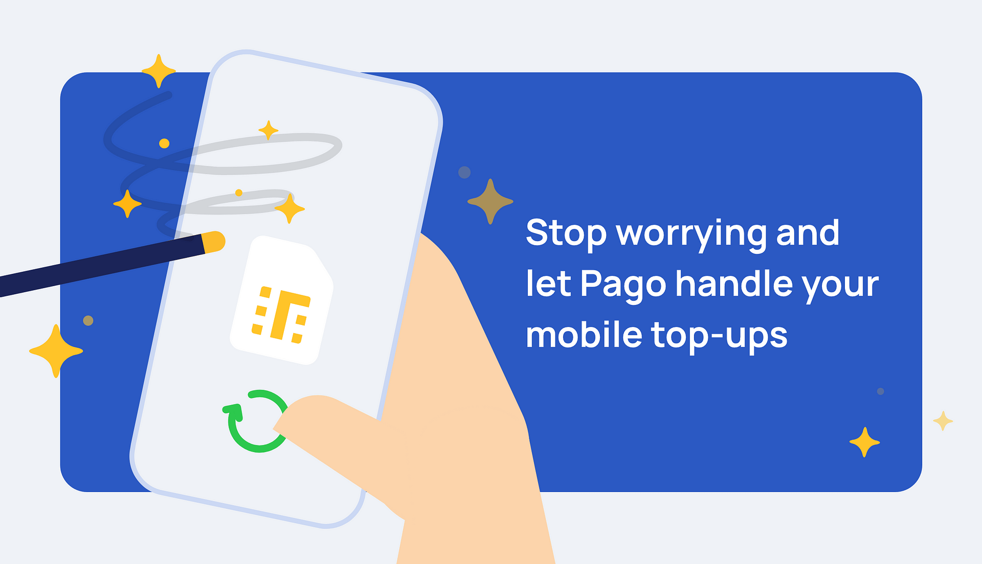 All about mobile top-ups in Pago