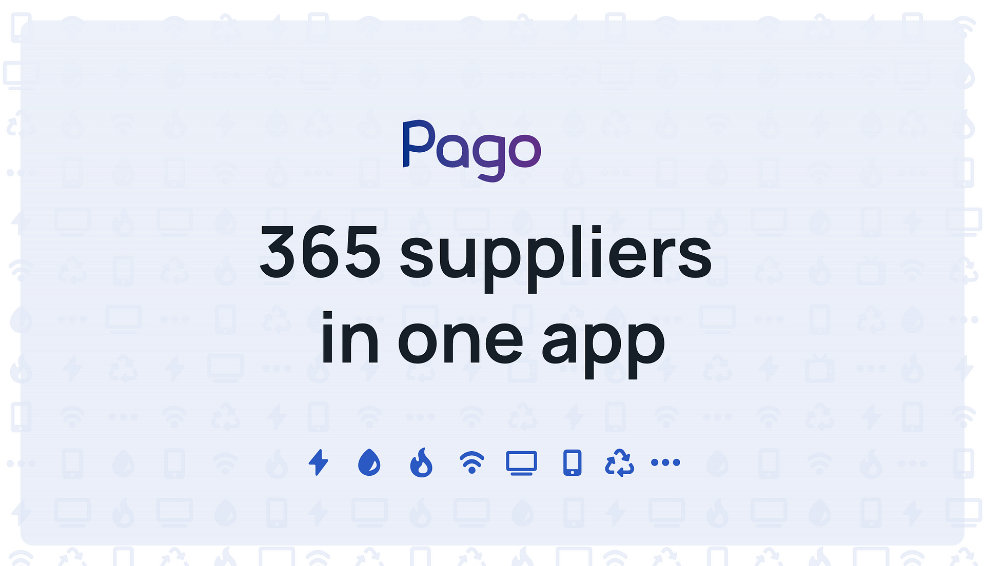 All about the available suppliers in Pago. Types of suppliers